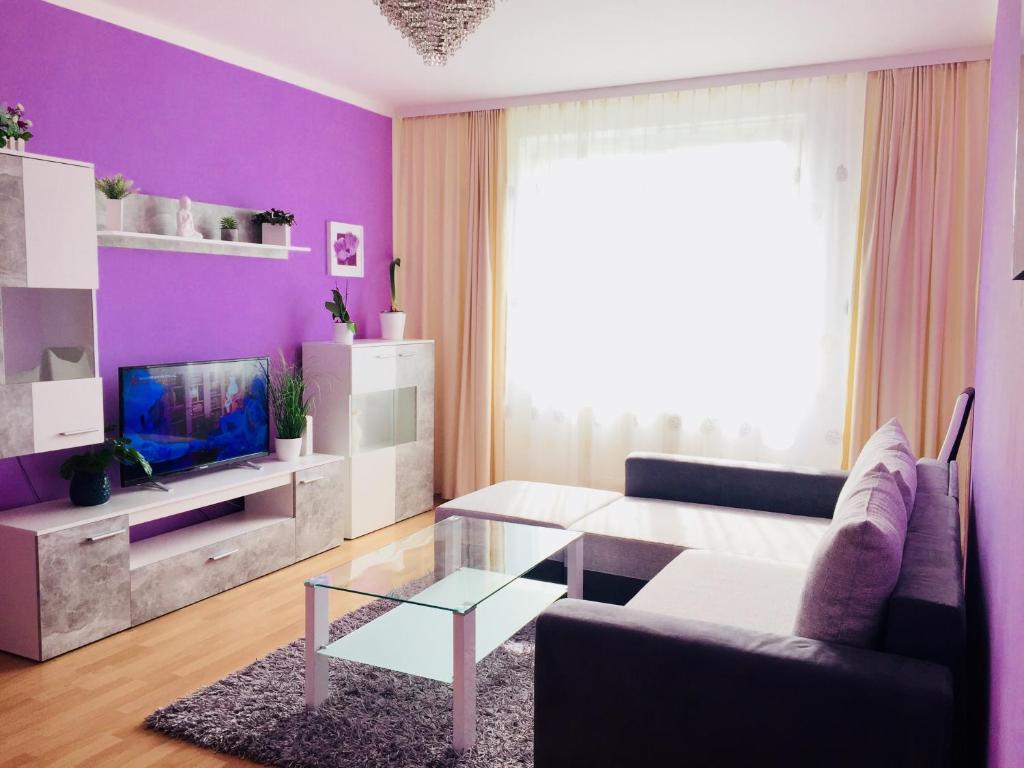 Гостиная зона в Apartment Prague