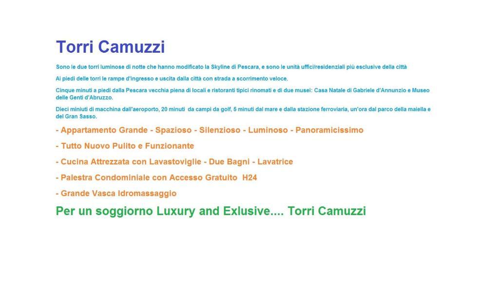 Torri Camuzzi Exclusive Luxury Apartment Pescara Prețuri