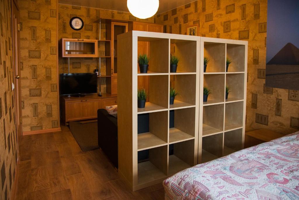 Телевизор и/или развлекательный центр в Apartment on Moskovskaya 4A