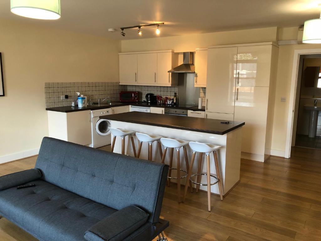Majoituspaikan Flat 1, 221 Clapham road keittiö tai keittotila