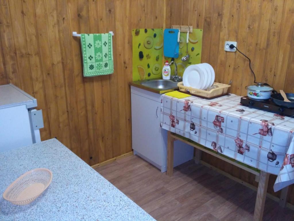 A kitchen or kitchenette at Guest House Berezhok
