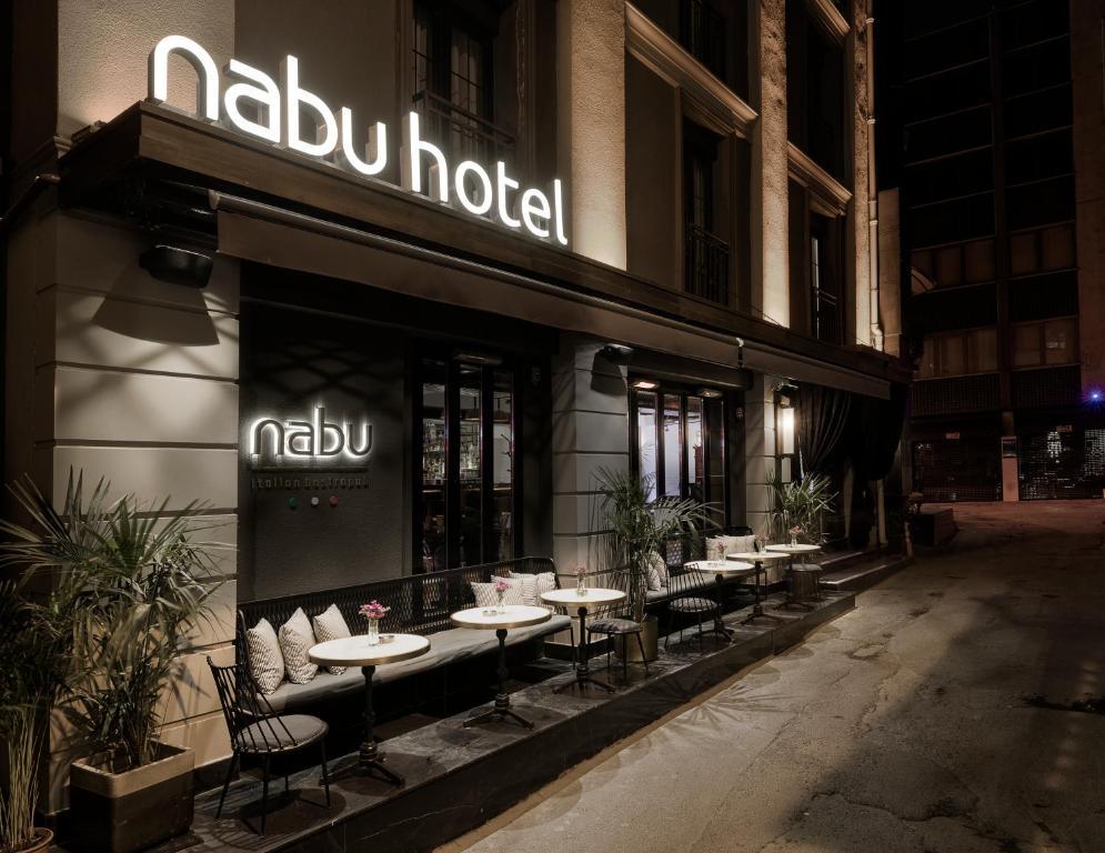 Um restaurante ou outro lugar para comer em Nabu Hotel Karaköy