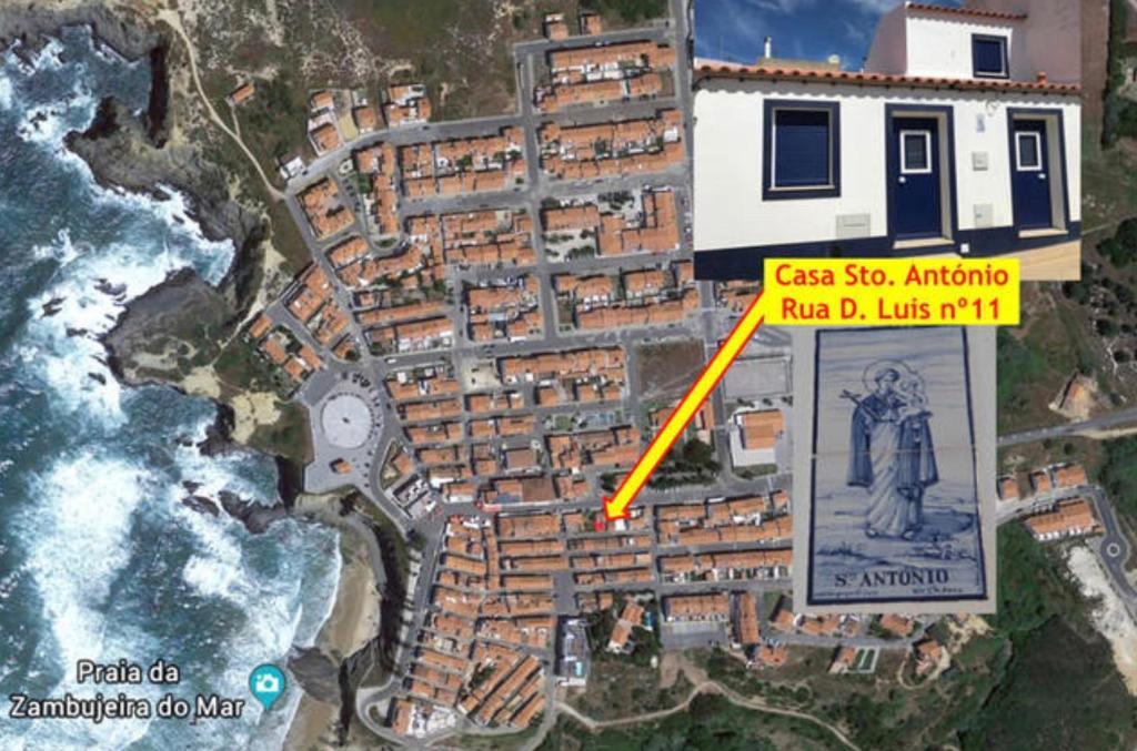 A bird's-eye view of Casa Sto. António