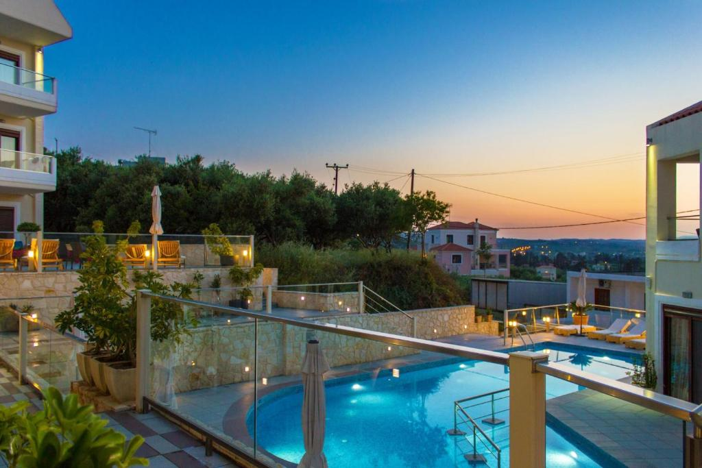 A view of the pool at Esthisis Suites Chania or nearby