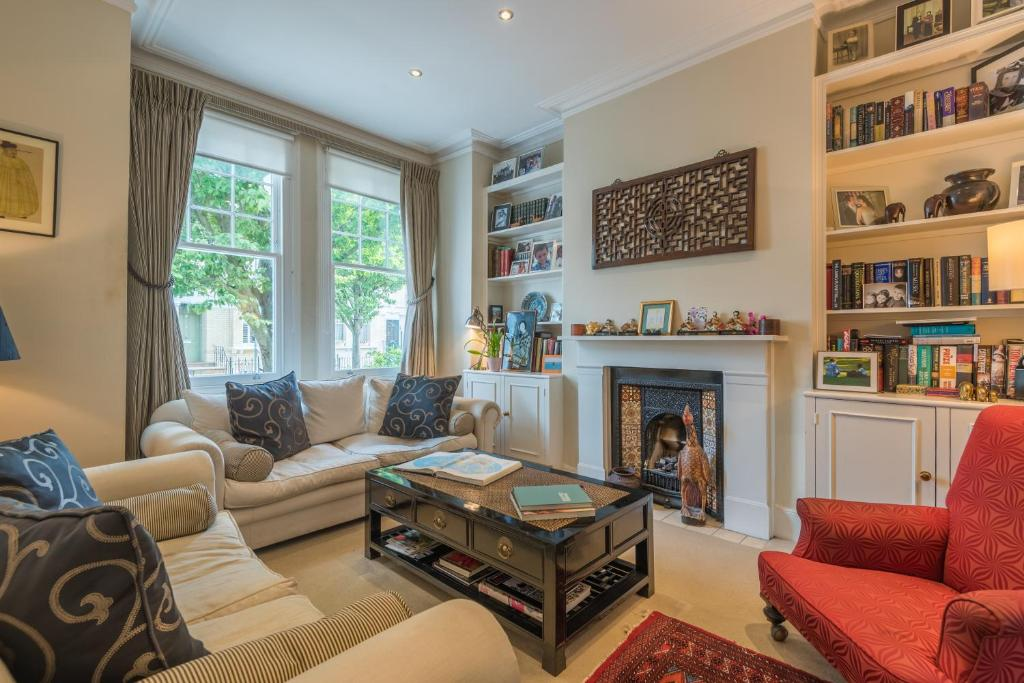 A seating area at Large Family Home in Fulham