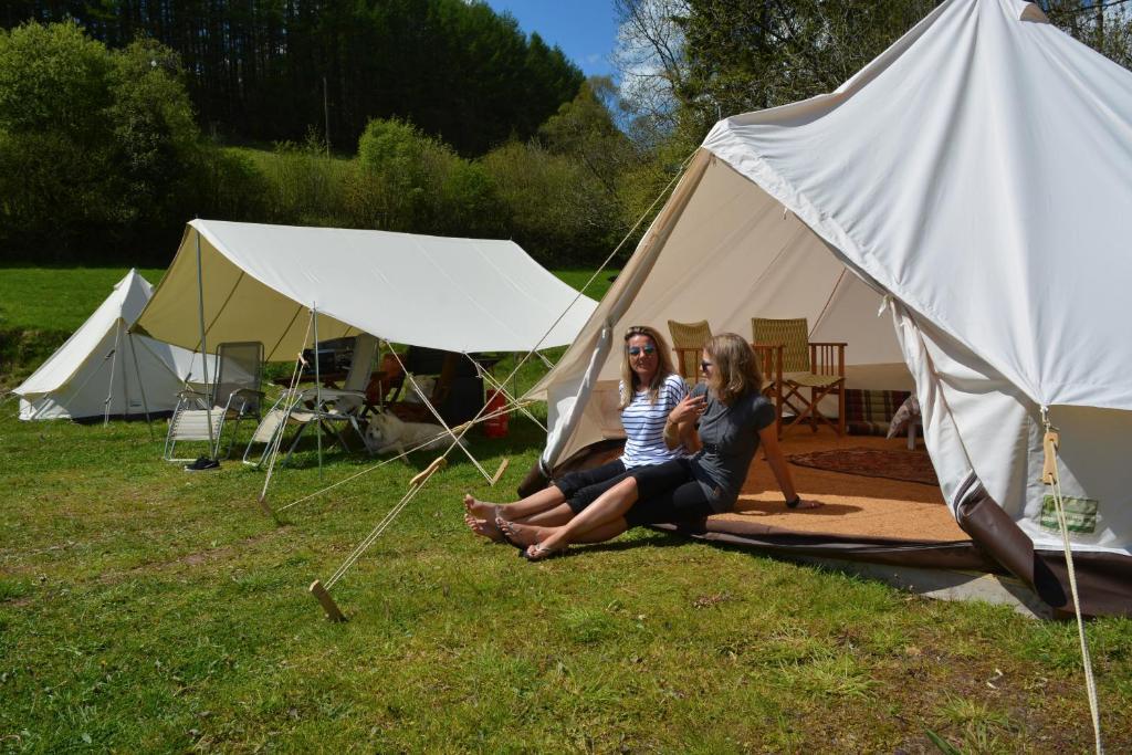camping avec tente de luxe