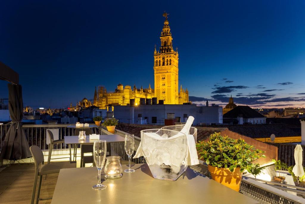Restaurant ou autre lieu de restauration dans l'établissement Eurostars Sevilla Boutique