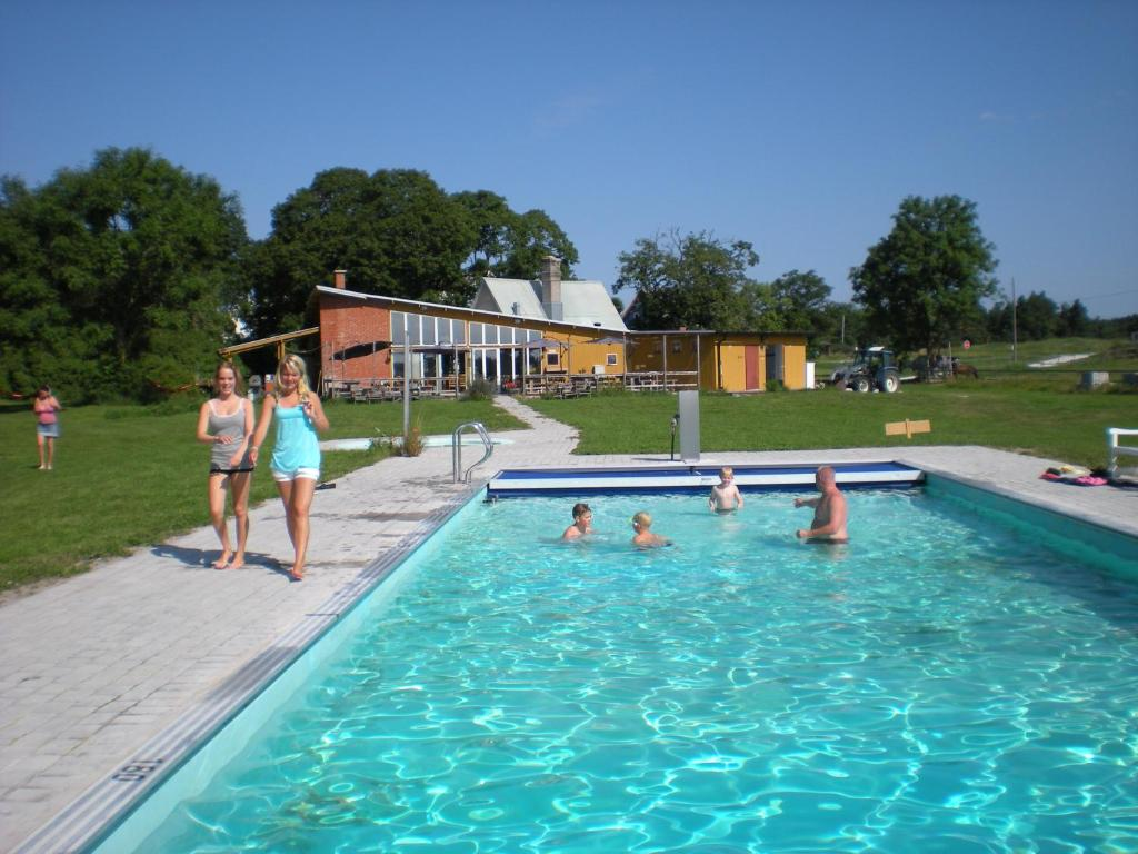 The swimming pool at or near STF Hostel Ihre Gård