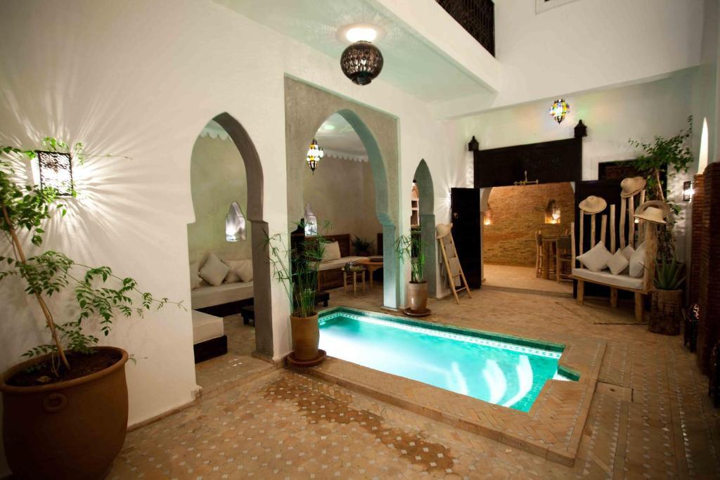 The swimming pool at or near Riad Shambala