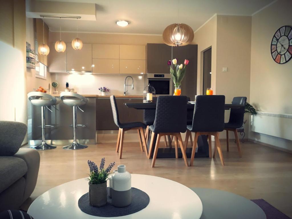 Kuchyň nebo kuchyňský kout v ubytování Apartman Karlo Antonio