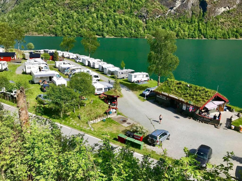 Letecký snímek ubytování Olden Camping Gytri