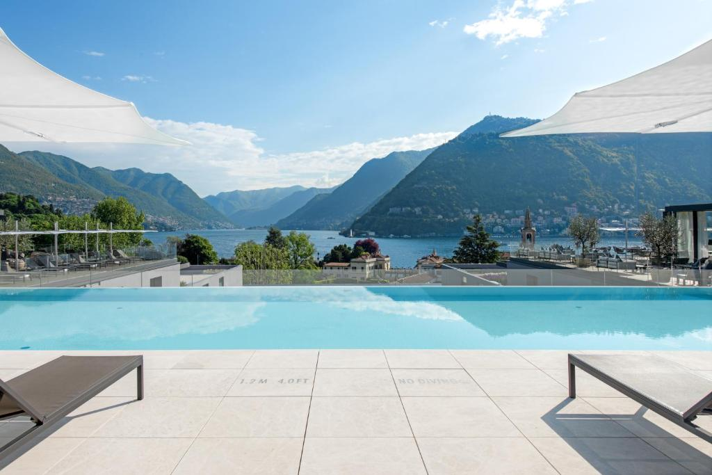 The swimming pool at or near Hilton Lake Como