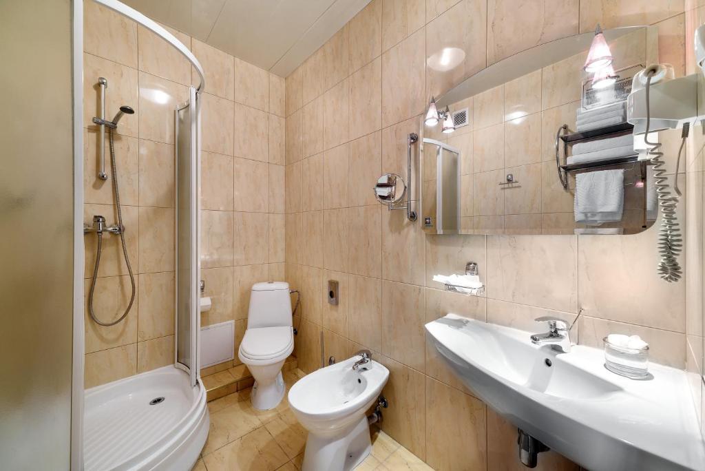 Ванная комната в Отель Раушен