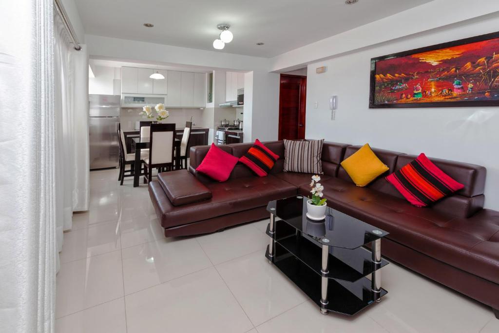 Zona de estar de Luxury Inka Apartments