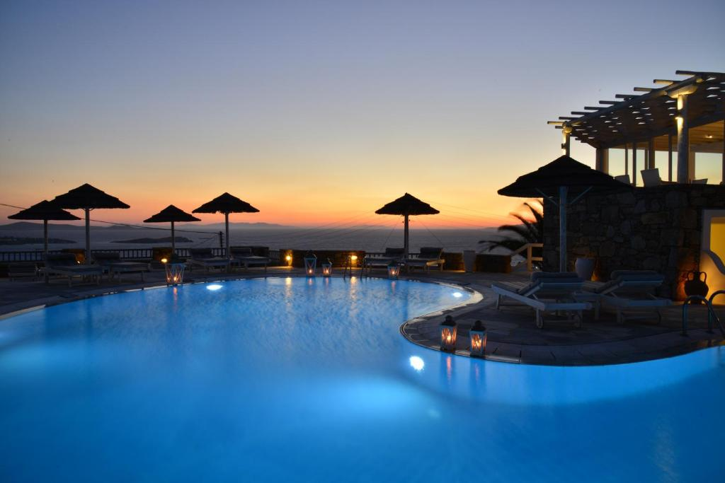 The swimming pool at or near Hermes Mykonos Hotel