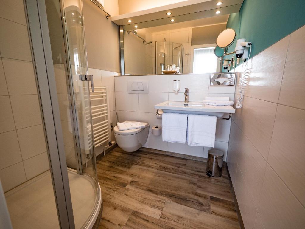 A bathroom at Hotel Godewind