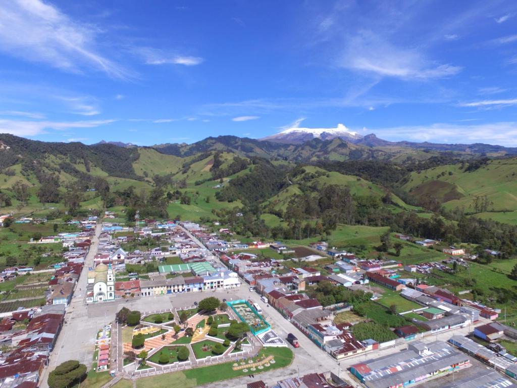 A bird's-eye view of La Posada Del Turista
