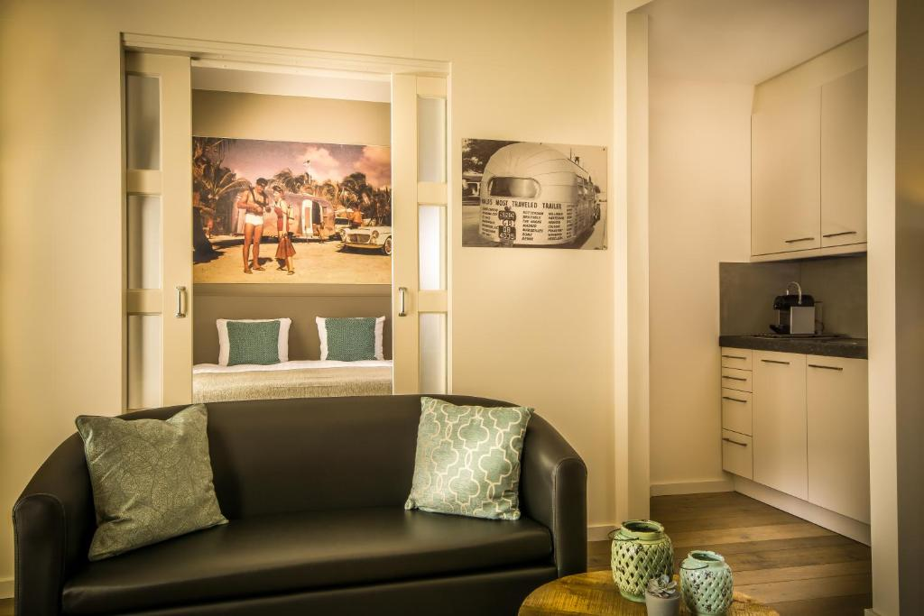 Een zitgedeelte bij appartementen Valkenburg / Den Driesch