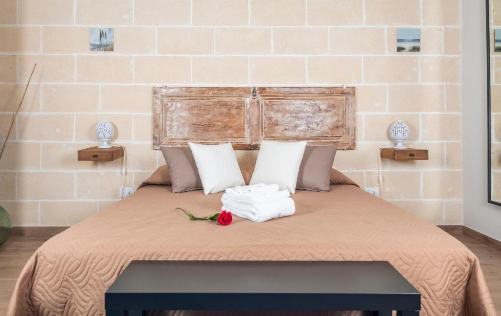 Letto o letti in una camera di La Creta b&b