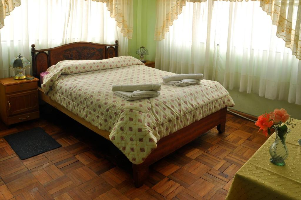 Cama o camas de una habitación en Hotel Torino