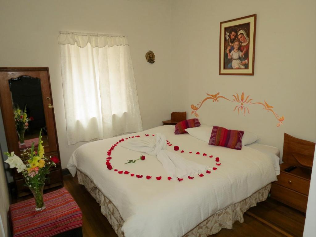 Cama o camas de una habitación en Casa La Sambleña Inn