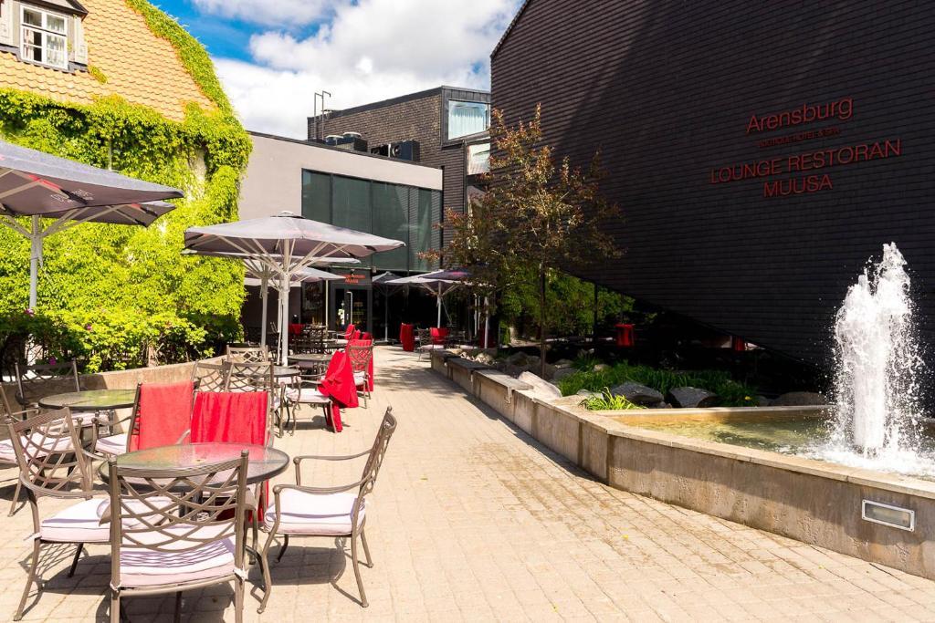 Sân trong/khu vực ngoài trời tại Arensburg Boutique Hotel & Spa