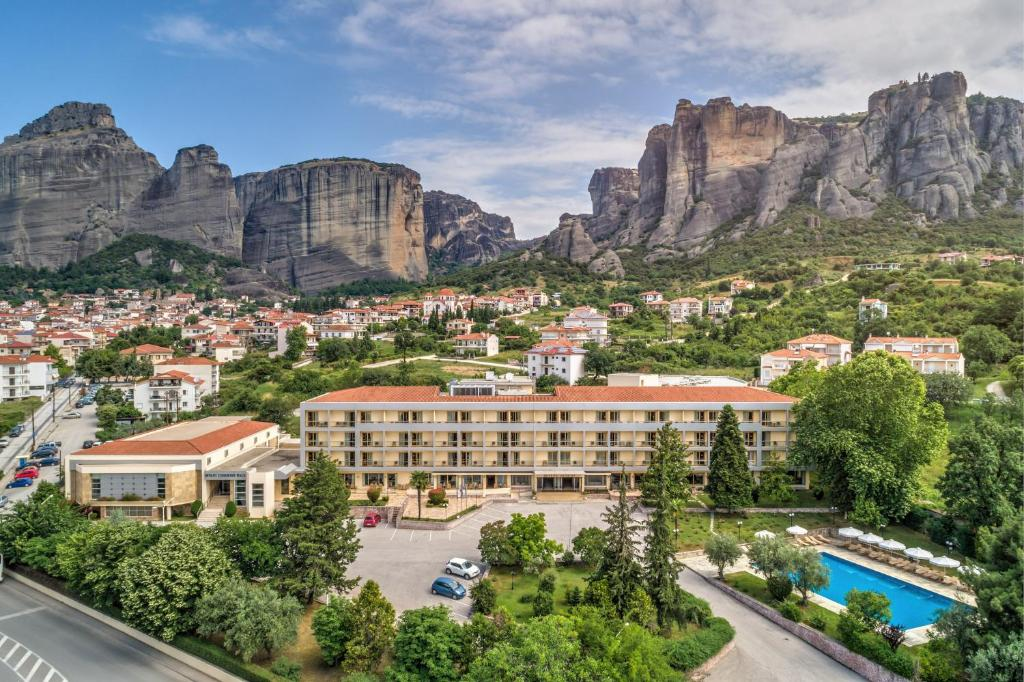 A bird's-eye view of Divani Meteora Hotel