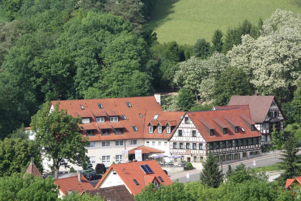 Blick auf Akzent Hotel Goldener Ochsen aus der Vogelperspektive