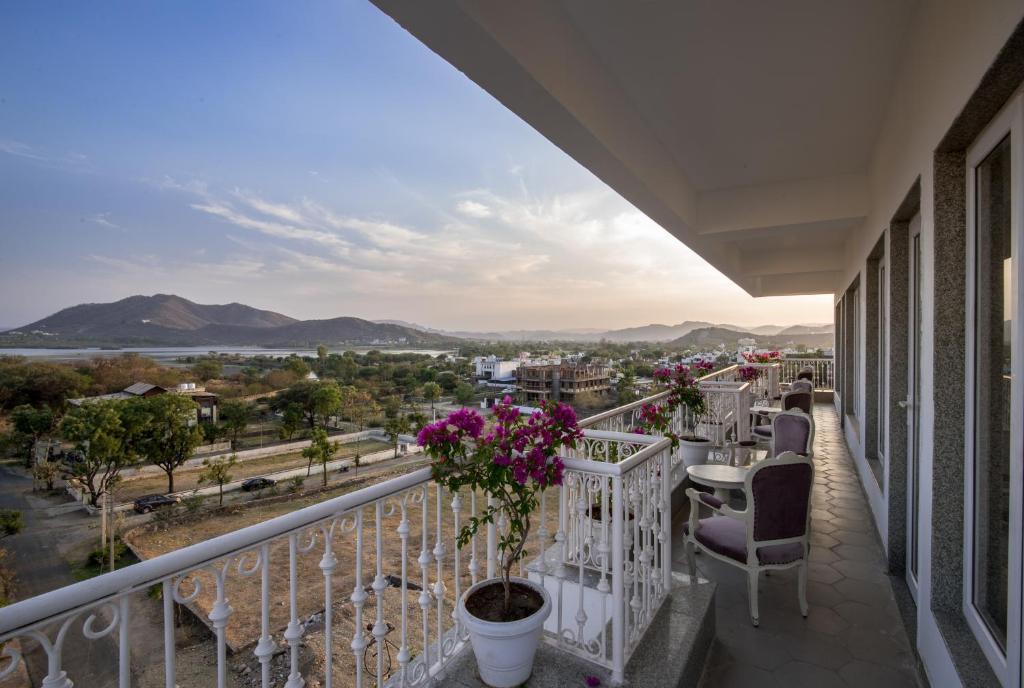 A balcony or terrace at The Kehloor