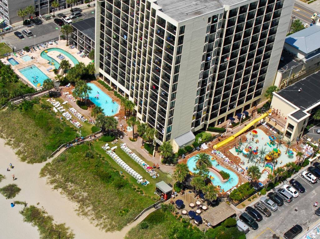 A bird's-eye view of Sea Crest Oceanfront Resort