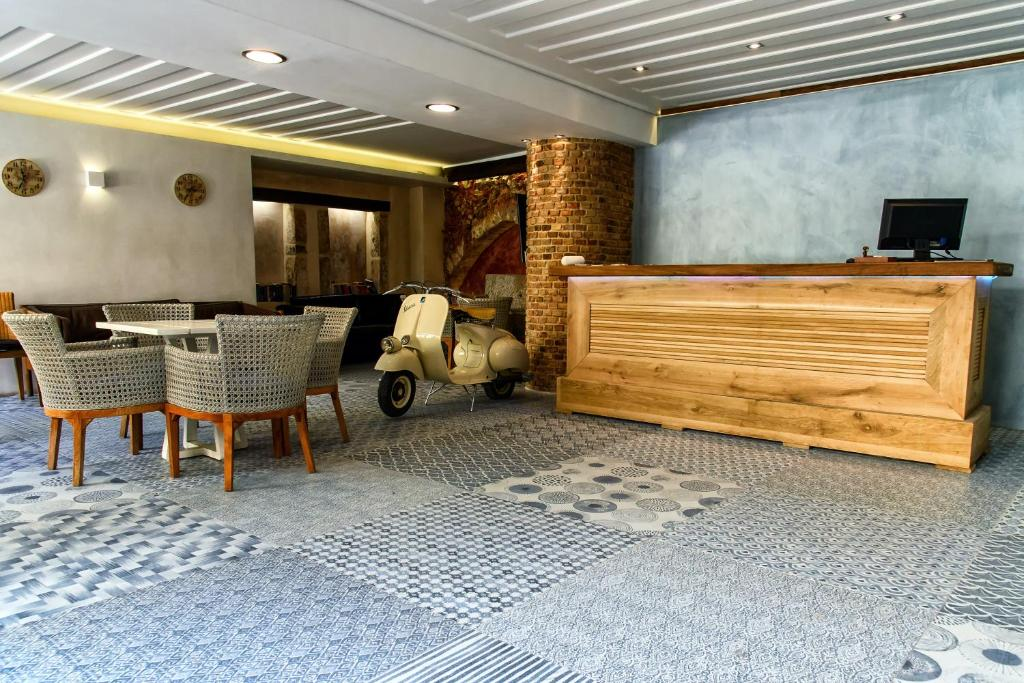 The lobby or reception area at Vranas Ambiance Hotel