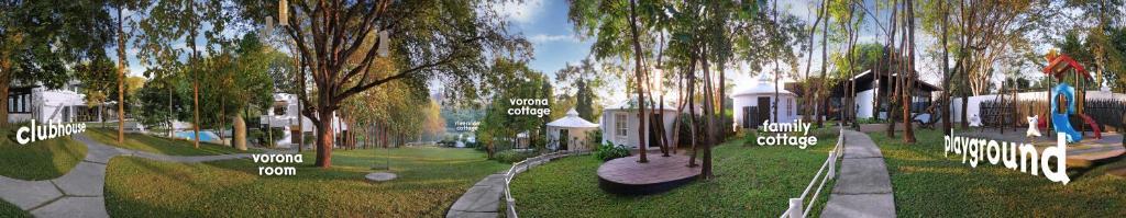 สวนหย่อมนอก Vorona Resort