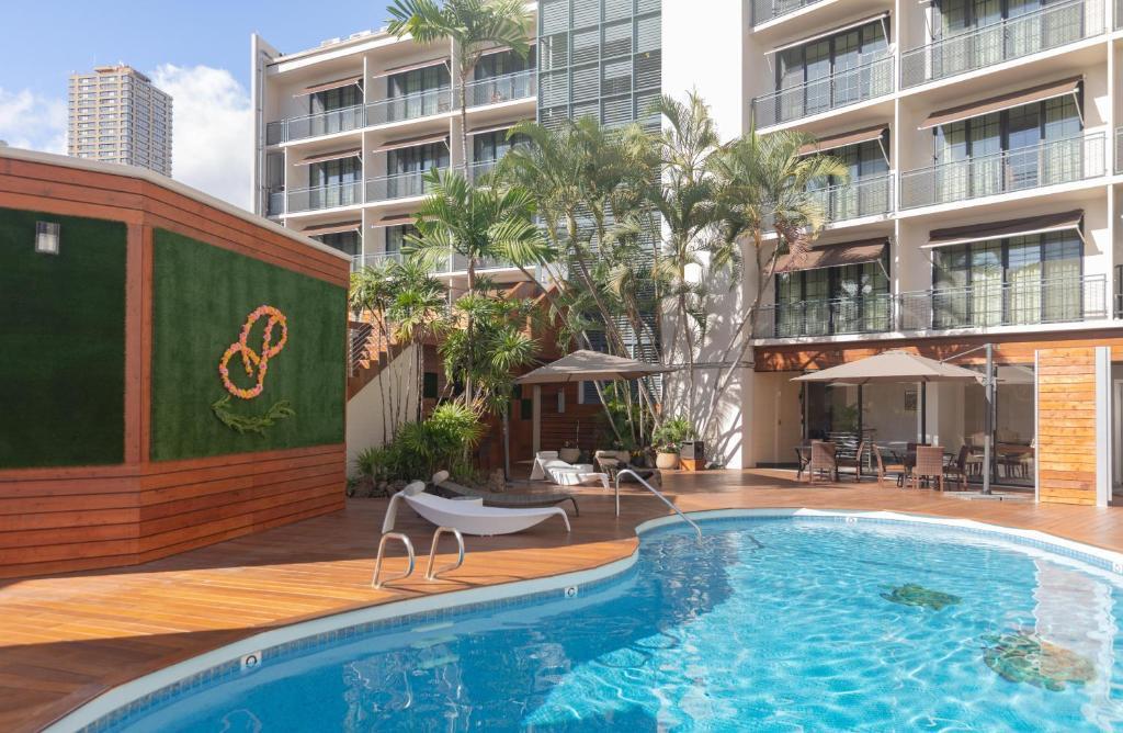 The swimming pool at or near Polynesian Residences Waikiki Beach