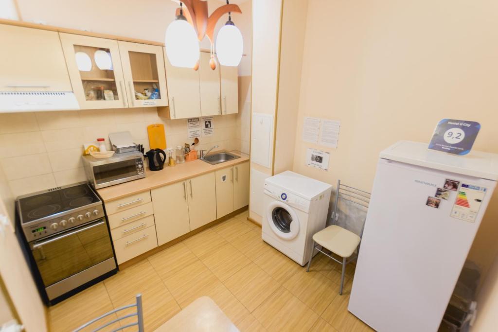 A kitchen or kitchenette at Hostel U City