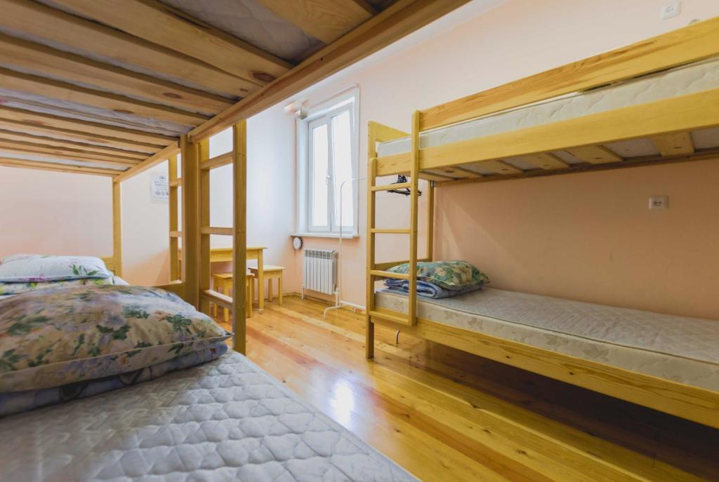 A bunk bed or bunk beds in a room at Hostel U City
