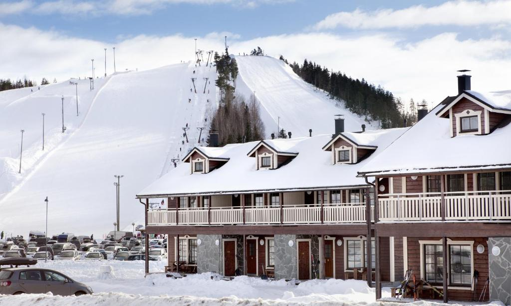 Himosport Apartments during the winter