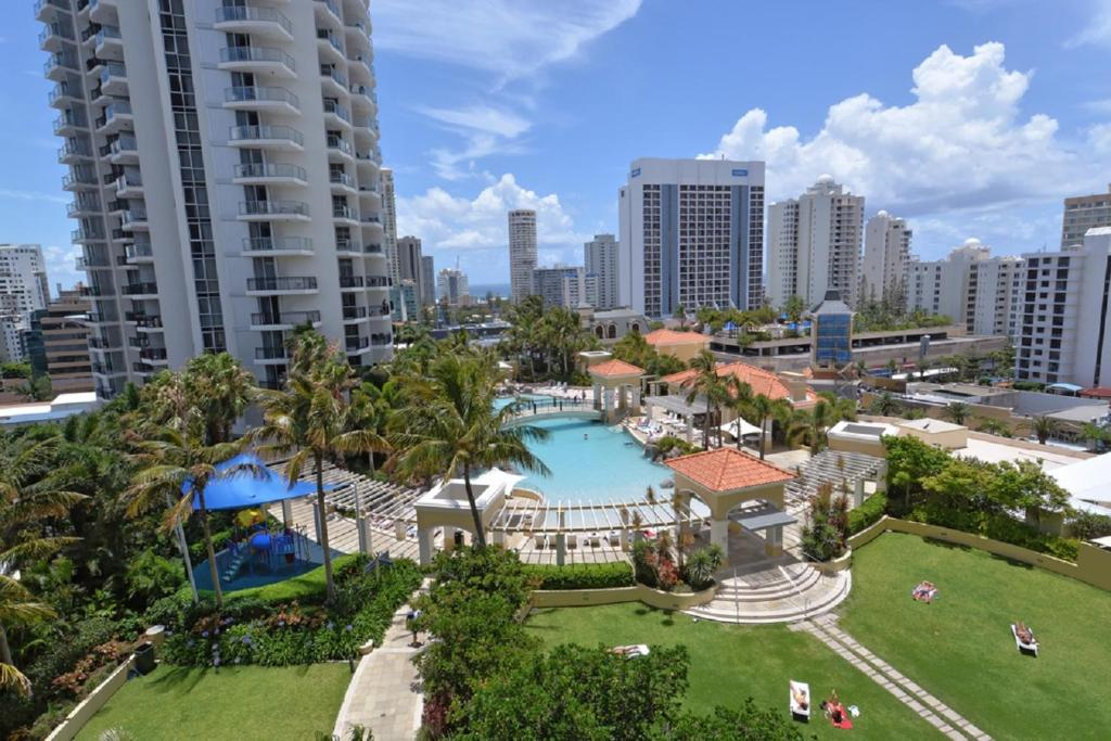 A view of the pool at Ocean View Central Surfers or nearby