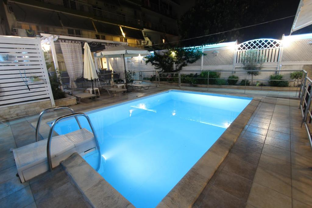 The swimming pool at or near Hotel Mallas