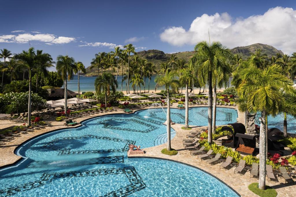 A view of the pool at Kauai Marriott Resort or nearby