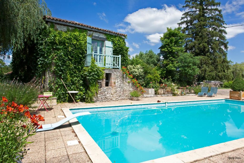 The swimming pool at or close to Moulin de Cocussotte