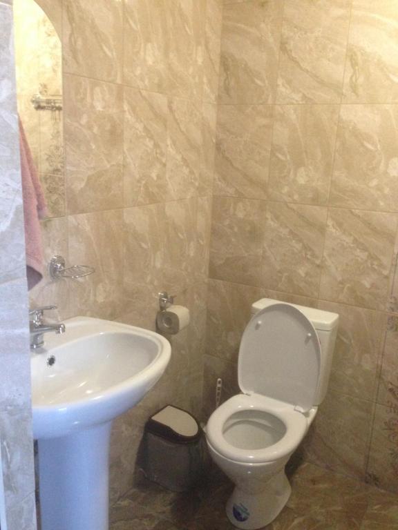 A bathroom at Guest House Belaya Lebed