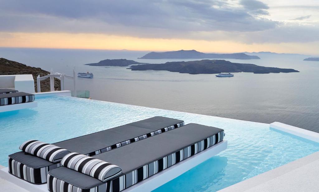 The swimming pool at or near Alti Santorini Suites