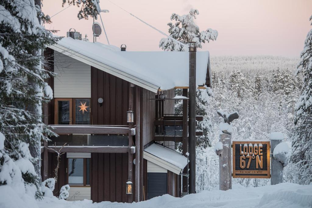 Lodge 67°N Lapland during the winter
