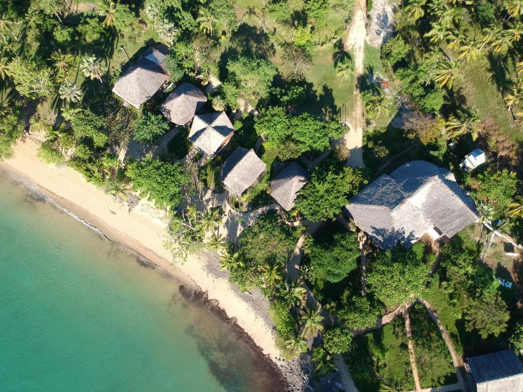 A bird's-eye view of Sangany Lodge