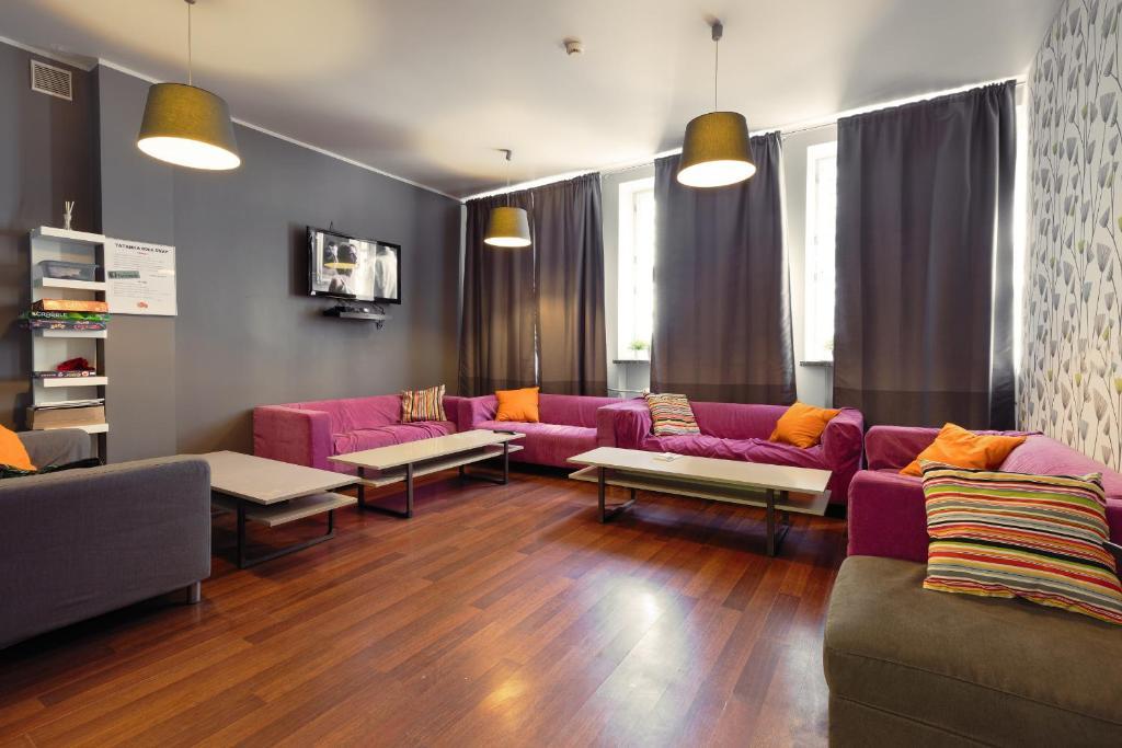 Zona de estar de Tatamka Hostel