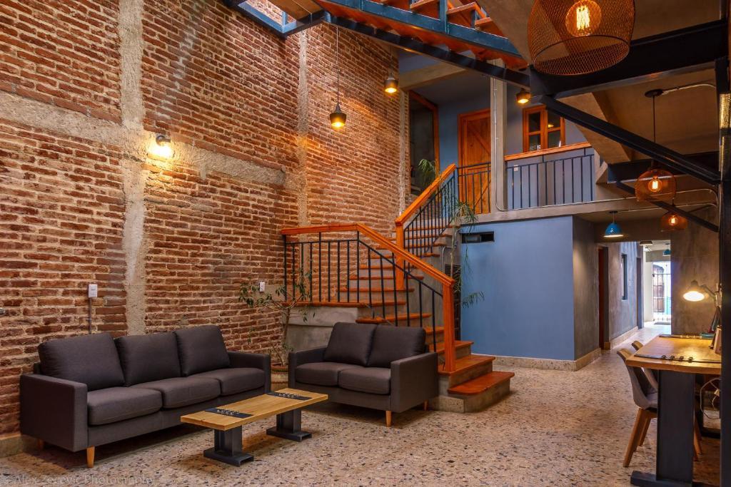 Lobby/Rezeption in der Unterkunft La Abuelita Hostal