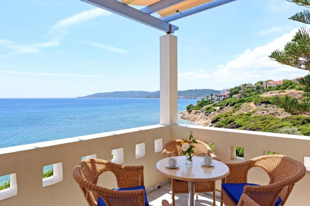 A balcony or terrace at Sea Breeze Hotel Apartments & Residences Chios