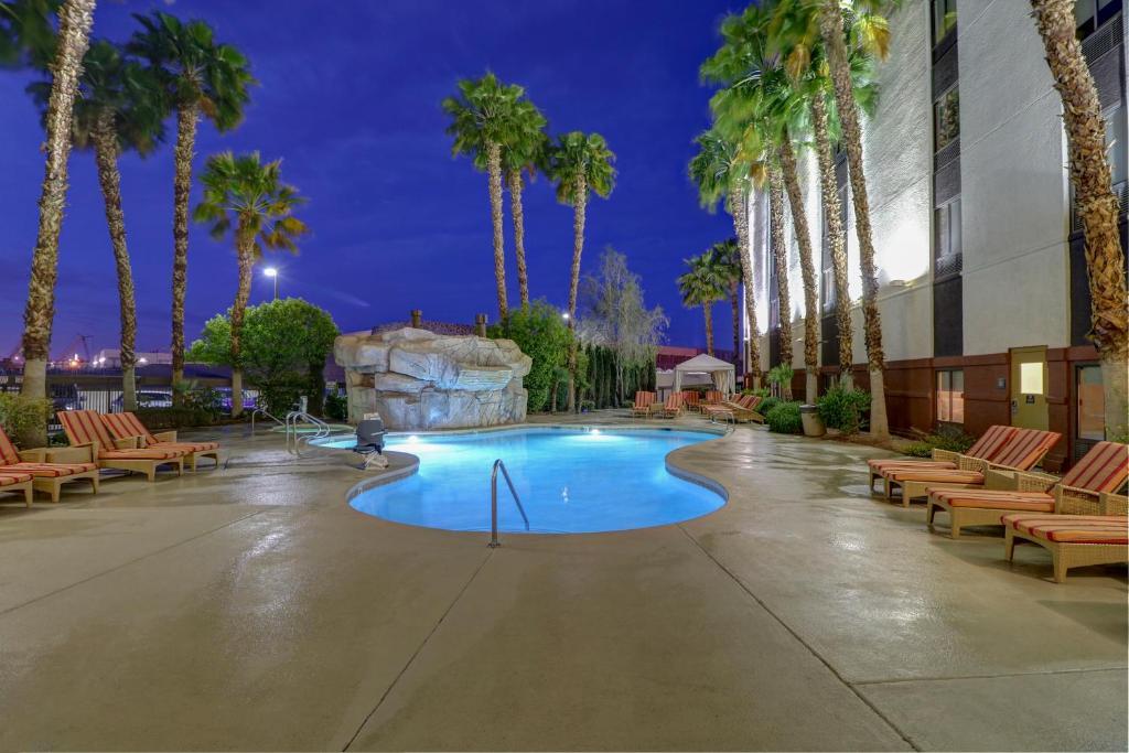 The swimming pool at or near Hampton Inn Tropicana Las Vegas