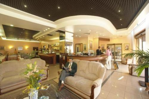 The lobby or reception area at Hotel Valganna