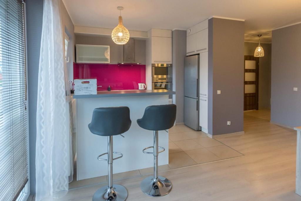 Kuchnia lub aneks kuchenny w obiekcie Ann Apartament 4 Oceany